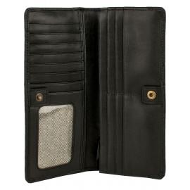 Ladies Croco Leather Wallet Logo Branded