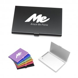 Aluminum Alloy Credit Card Holder Custom Imprinted