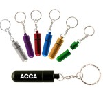 Custom Printed Aluminum Pill Tube w/ Key Chain