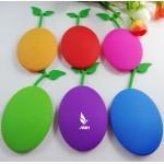 Bean Shaped Silicone Card Holder Key Chain Custom Printed
