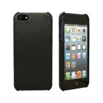 iBank(R) Black Genuine Leather Back Cover Case for iPhone 7/8 Logo Branded