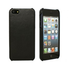 iBank(R) Black Genuine Leather Back Cover Case for iPhone 7/8 Custom Printed