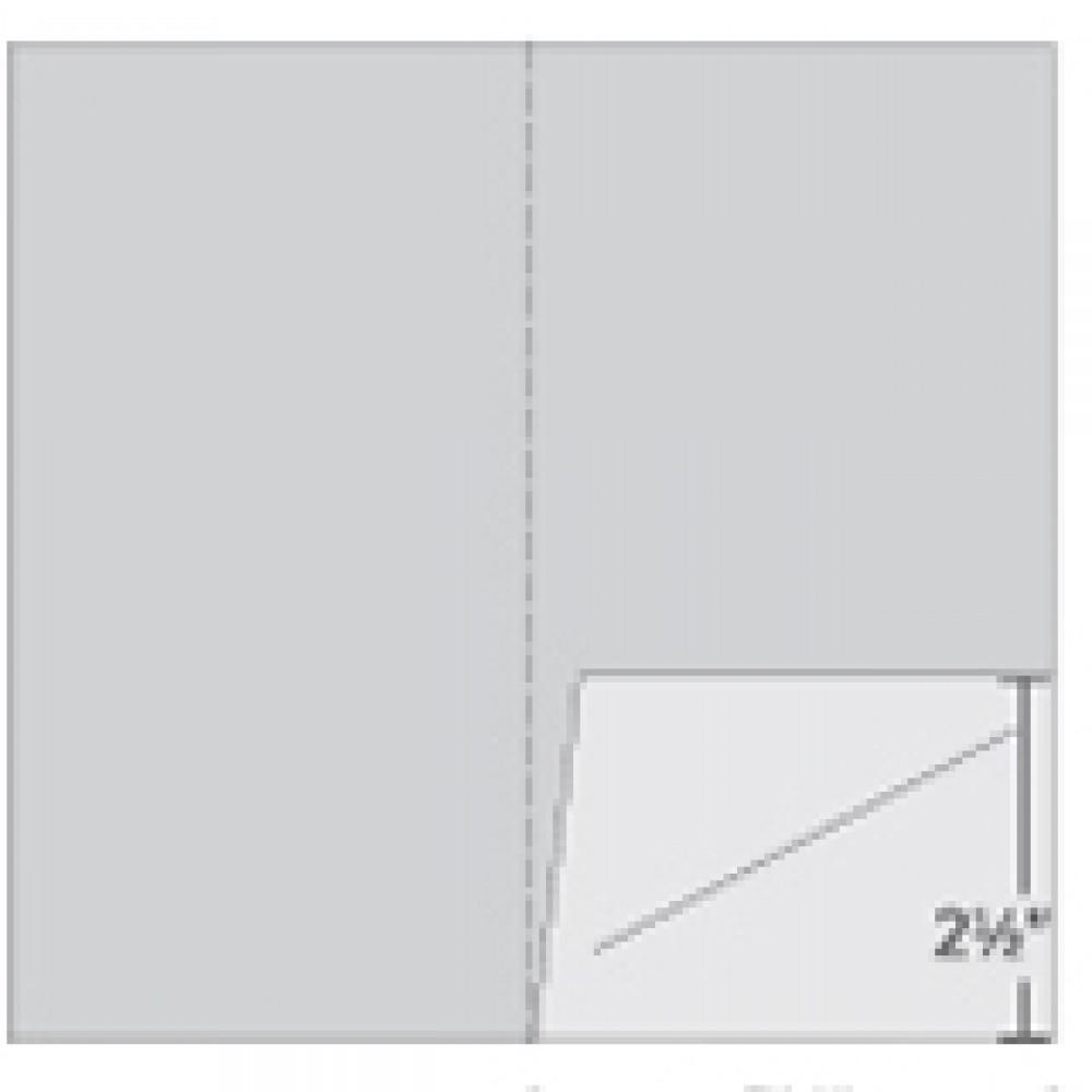 1 Pocket Vertical Folded Card Carrier Logo Branded