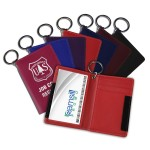 Logo Branded Deluxe ID & Card Holder - Red