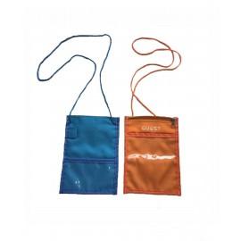 Custom Imprinted Bags for Less Travel Neck Wallet Passport Badge Holder