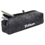 Custom Imprinted Felt Material Zippered Pencil Case