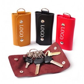 Logo Branded PU Car Key Holder