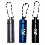 Aluminum Keychain Pill Bottle Logo Branded