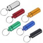 Custom Printed Aluminum Pill Case Keychain