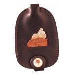 Bell Key Case w/Snap-over Tab (Saddlehide) Custom Imprinted