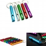 Aluminum Whistle with Key Ring Logo Branded