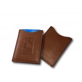 Custom Printed Custom Genuine Leather Hotel Room Key/ Card Holder (Debossed/ 1 Side)