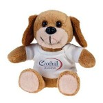 Dog Koo-Keezz Stuffed Animal with Custom Imprint T-Shirt