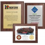 """10.5"""" x 13"""" Cherry Finish Plaque with Full Color Sublimated Imprint"""