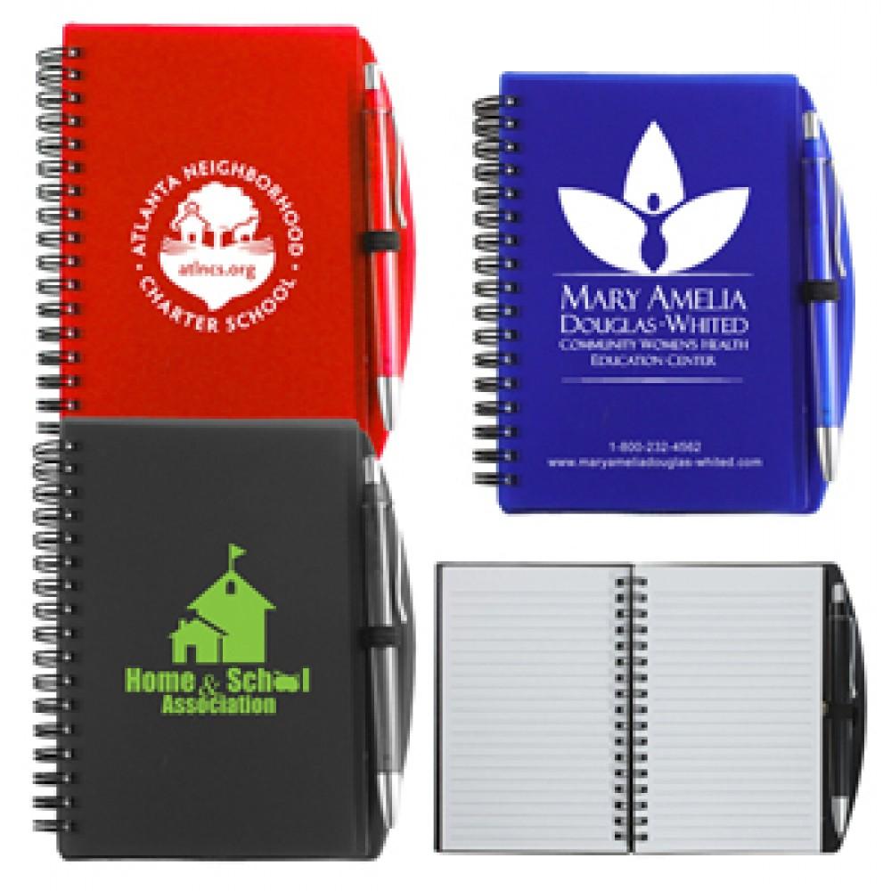 """""""Carmel"""" Jotter Notepad Notebook w/Pen (Overseas) Branded"""