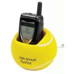 Custom Imprinted Stress Reliever Sports Ball Cell Phone Holder (Tennis Ball)
