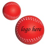 "2 1/2"" Red Baseball Stress Ball Custom Printed"