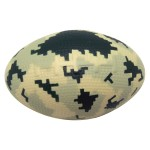 Digital Camo Football Squeezies Stress Reliever Custom Printed
