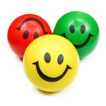 Smiley Face Stress Reliever Ball Custom Printed