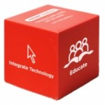 Custom Imprinted Red Cube Stress Reliever Toy
