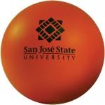 Custom Imprinted Orange Squeezies Stress Reliever Ball