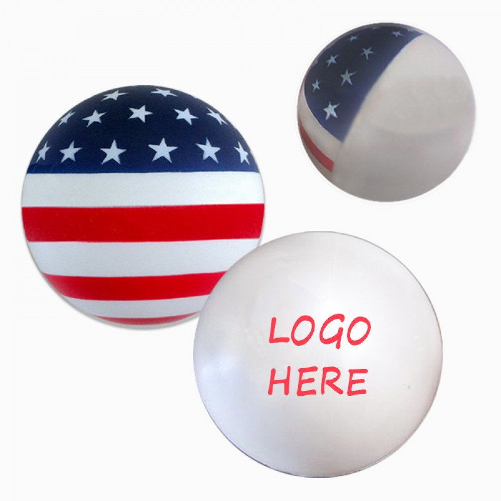 Custom Printed American Flag Ball Stress Reliever