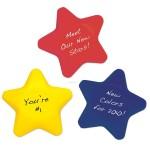 "Custom Printed 2 1/2"" Star Shape Stress Ball"
