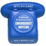 Custom Printed Blue Phone Stress Reliever
