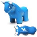 Logo Branded Blue Bull Stress Reliever