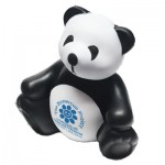 Custom Imprinted Black & White Panda Stress Reliever