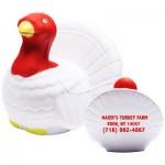 White Turkey Stress Reliever Custom Printed