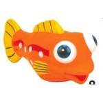 Custom Imprinted Rubber Cutie Big Eyed Ball Fish (Small Size)