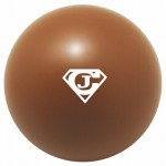 Custom Printed Brown Squeezies Stress Reliever Ball