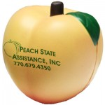 Custom Printed Peach Stress Reliever