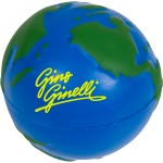 "Logo Branded Earth Globe Stress Ball (2 1/2"")"