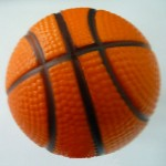"Custom Printed 2.48"" Basketball Stress Reliever Squeeze Ball"