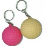 Keychain Series Stress Reliever Ball Logo Branded
