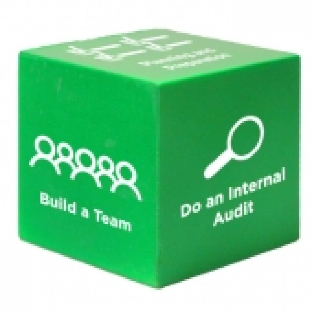 Green Cube Stress Reliever Toy Custom Imprinted