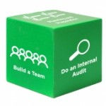 Custom Imprinted Green Cube Stress Reliever Toy
