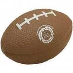 "Small 3"" Football Stress Reliever Logo Branded"