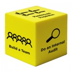 Yellow Cube Stress Reliever Toy Custom Printed