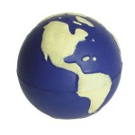 Logo Branded Glow Earth Squeezies Stress Reliever