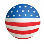 Flag Ball Squeezies Stress Reliever Custom Imprinted