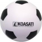Logo Branded Soccer Ball Squeezies Stress Reliever