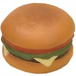 Custom Imprinted Hamburger Stress Reliever