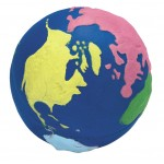 Custom Printed Multi Color Earth Squeezies Stress Reliever