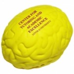 Custom Imprinted Yellow Brain Stress Reliever