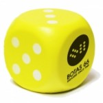 Yellow Dice Stress Reliever Custom Printed
