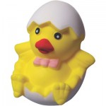 Custom Printed Chick in Egg Squeezies Stress Reliever