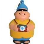 Tourist Bert Squeezies Stress Reliever Keyring Custom Imprinted